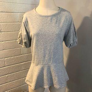 NEW Halogen Gray Short Sleeve Top